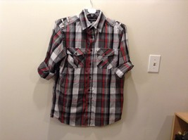 Beverly Hills Polo Club Plaid Long Sleeve Button Up Collared Shirt Size M image 1