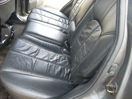 2004 MITSUBISHI ENDEAVOR BLACK LEATHER REAR BACK SEAT  image 1