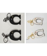 Coach F87112 Embellished C 'C' Bag Charm Key Ring Fob Bag Jewelry Chalk ... - $59.00