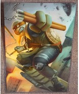 TMNT Michelangelo Glossy Art Print 11 x 17 In Hard Plastic Sleeve - $24.99