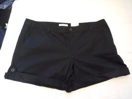 Women's Liz Claiborne Poplin Shorts Black  Size 18 NEW - $24.74
