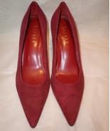 Lauren Ralph Lauren Genuine Leather Solid Burgu... - $49.49