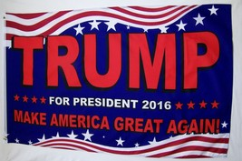 Trump Make America Great Again (2) Flags Deal Both 3' X 5' Deluxe Banners - $15.95