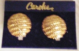 Carolee Beautifully Etched Huggie Earrings Clip-ons NOC - $29.95