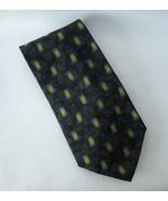 Alfani Green Blue Neck Tie 100% Silk Mid Century Modern Geometric Mens I... - $24.00