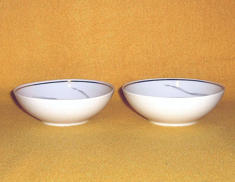 Johann Haviland Silver Wheat 2 Fruit Sauce Bowls