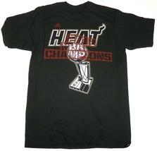 Miami Heat Shirt Men's NBA Basketball Champions Locker Room Issue Tee adidas