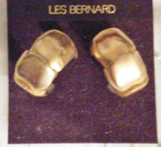 Les Bernard Large HOOP Earrings Clip-ons NOC - $24.95