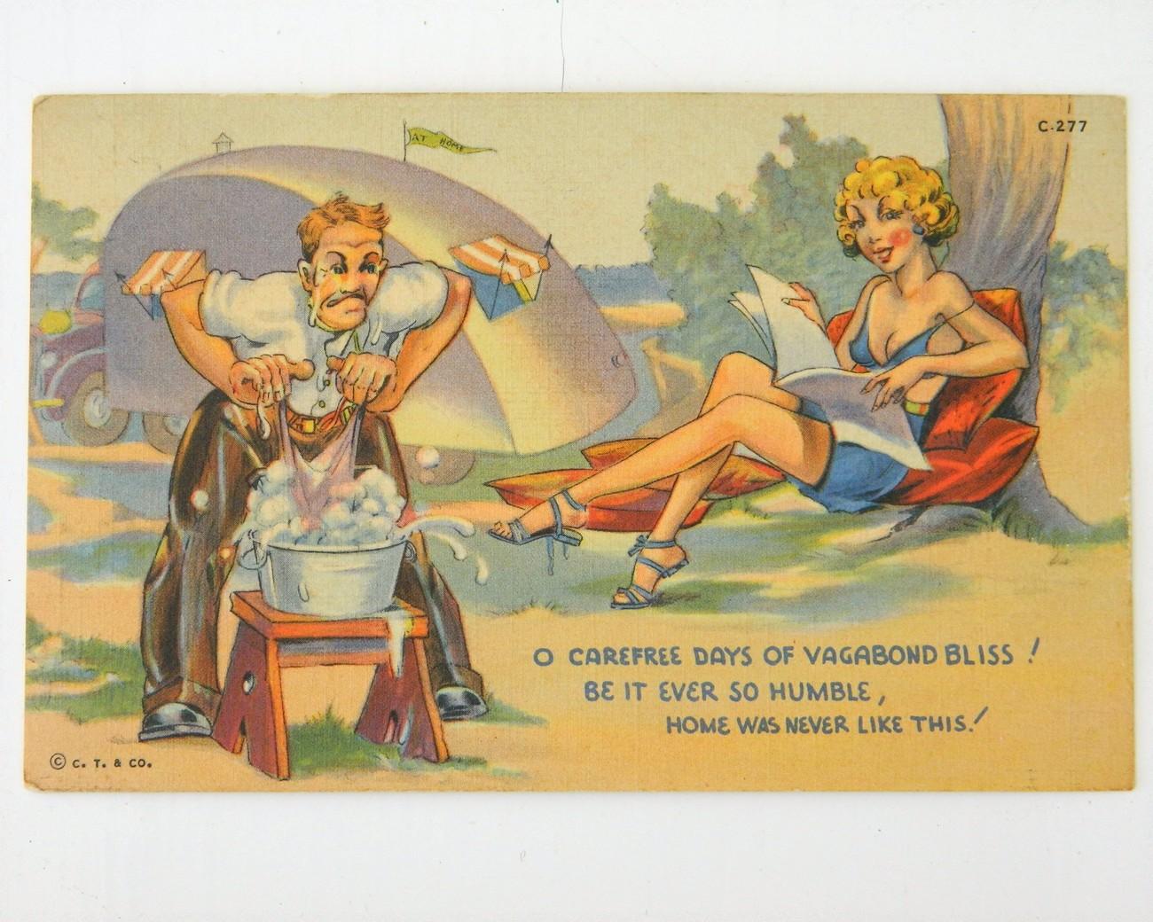 Vintage Postcard Teardrop Camper Travel And 43 Similar Items