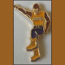 Omega Psi Phi Fraternity Stepper Lapel Pin - $7.00