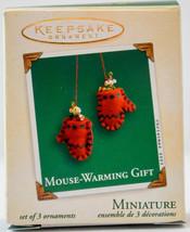 Hallmark  Mouse-Warming Gift  Set of 3  2003  Miniature Keepsake Ornament - $16.13