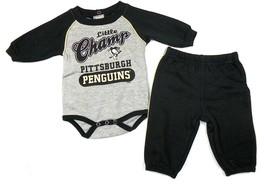 Infant Pittsburgh Penguins Sweatsuit NHL Little Champ Baby Bodysuit & Pants Set