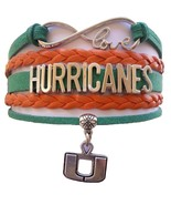 University of Miami Hurricanes Fan Shop Infinity Bracelet Jewelry - $12.99