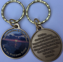 Acceptance Is The Answer Beach Sunrise Color Bronze AA Keychain  449 417 - $15.99