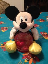 Disney Mickey Mouse Plush Figural Red Heart Pho... - $19.78