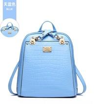 New Hot Crocodile Pattern Students Backpacks Leather Bookbags,K075-1 image 6