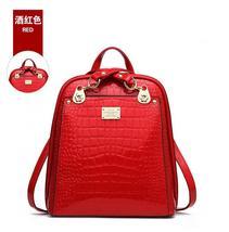 New Hot Crocodile Pattern Students Backpacks Leather Bookbags,K075-1 image 9
