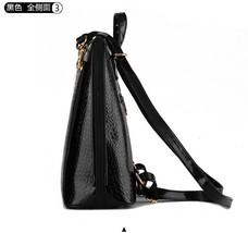 New Hot Crocodile Pattern Students Backpacks Leather Bookbags,K075-1 image 12