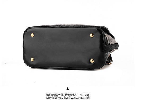New Hot Crocodile Pattern Students Backpacks Leather Bookbags,K075-1 image 13