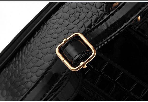 New Hot Crocodile Pattern Students Backpacks Leather Bookbags,K075-1 image 14