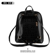 6 Color Leather Backpacks School Backpacks Crocodile Pattern Bookbags,K075-8 image 15