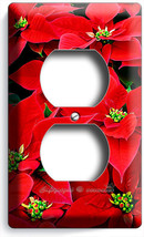 Poinsettia Christmas Holiday Flowers Duplex Outlet Wall Plate Cover Home Decor - $8.99