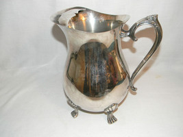 Leonard Silverplate Footed Pitcher with Ice Guard - $16.44