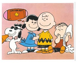Peanuts  GH Charlie Brown Comic Strip Vintage 11X14 Color TV Memorabilia... - $12.95