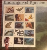 Sc 3005 Endangered  Species, Full sheet of 15 stamps 32 cent. MNH. - $4.99