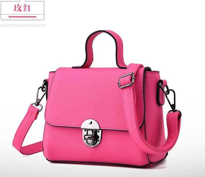 Free Shipping Women Leather Shoulder Bags Mixed Color Tote Bags H080-3