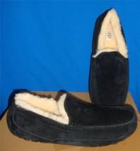 UGG Australia Men's ASCOT Black Suede Moccasin / Slippers Size US 7  #57... - $84.29 CAD