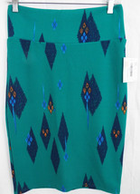 LuLaRoe Cassie Skirt SMALL in Green Blue Orange Abstract Feather   NWT - $36.17
