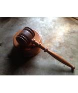 Wooden Gavel and Round Sound Block - $15.00