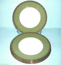 Wedgwood India 4 Accent Luncheon Plate(s Green ... - $109.90