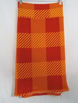 Lu La Roe Cassie Skirt In Extra Large Orange Geometric Plaid Nwt - $36.17
