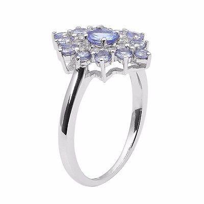 0.30 Ct Oval Genuine Tanzanite Gemstone 925 Sterling Silver Ring Sz 7 SHRI0978