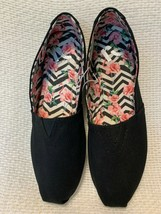 NEW! REPORT Black Canvas Flats Slip On Women's 7 Shoes - $19.79