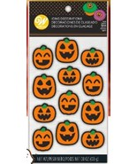 Pumpkin Jack O'Lantern Faces Icing Decorations 12 Ct Wilton Halloween - $3.29