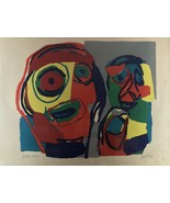 KAREL APPEL, UNTITLED (TWO FIGURES) SIGNED LITHOGRAPH - $1,473.09