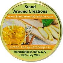Premium 100% Soy Tureen Candle - 11 oz. -Green Tea and Lemon Grass: Brig... - $15.99