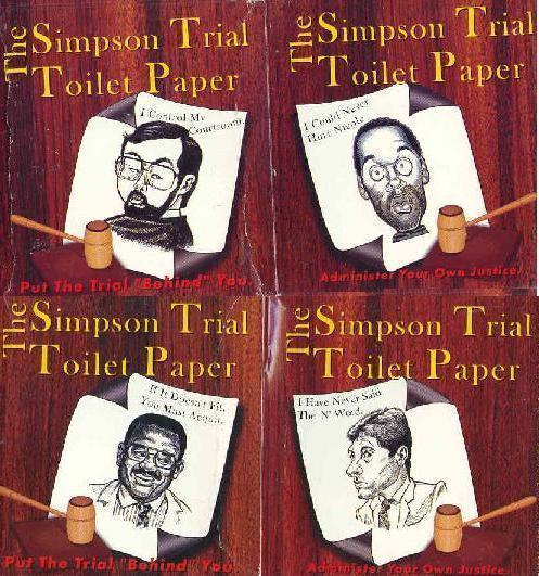 SIMPSON TRIAL Toilet Paper UNIQUE!!!