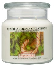 Premium 100% All Natural Soy Apothecary Candle - 16 oz. - Peppermint: Mi... - $21.99