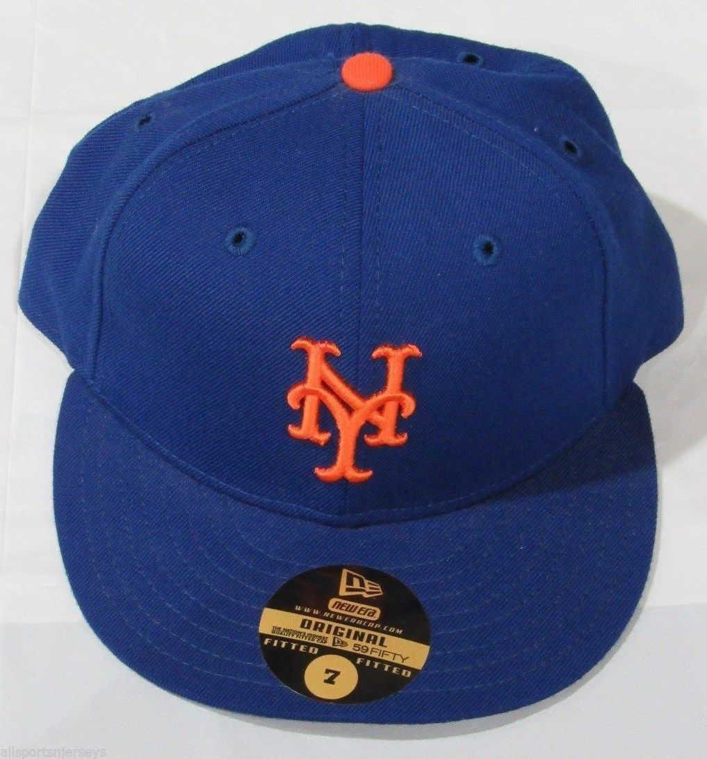 fec27a743d018 NWT NEW ERA FITTED BASEBALL HAT NEW YORK METS SIZE 7 ROYAL BLUE HOME