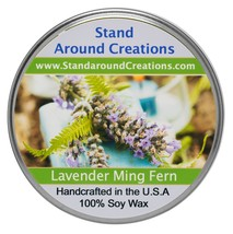 Premium 100% Soy Tureen Candle 3 oz. - Lavender Ming Fern- Ming Fern w/ ... - $9.99