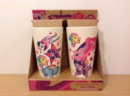 New In Box My Little Pony Bamboo Fiber Drinkware Set Of 2 Gift Set 24 oz.