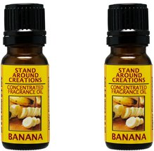 Set of 2 - Concentrated Fragrance Oil - Banana : A true, fresh, ripe ban... - $17.99