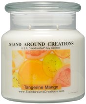 Premium 100% All Natural Soy Apothecary Candle - 16 -oz. - Tangerine Man... - $21.99