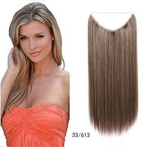 "Flip in Bow Wire Invisible Hair Extensions Fashion Straight Hair 55cm/21.65"" 80g - $14.98"