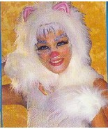 CAT HEADPIECE & MITTS GREAT FOR CATS LOOK WHITE - $27.00