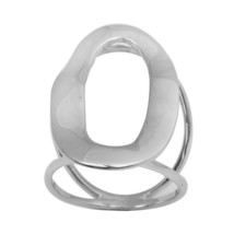 Women Fashion Plain Hoop Solid 925 Sterling Silver Jewelry Ring  Sz 7 SH... - $20.08